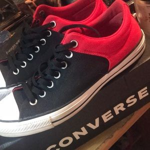 Red and Black Converse